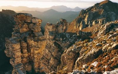 Frenchmans Cap National Park, Tasmanian Wilderness World Heritage Area. Photo: Chris Bell