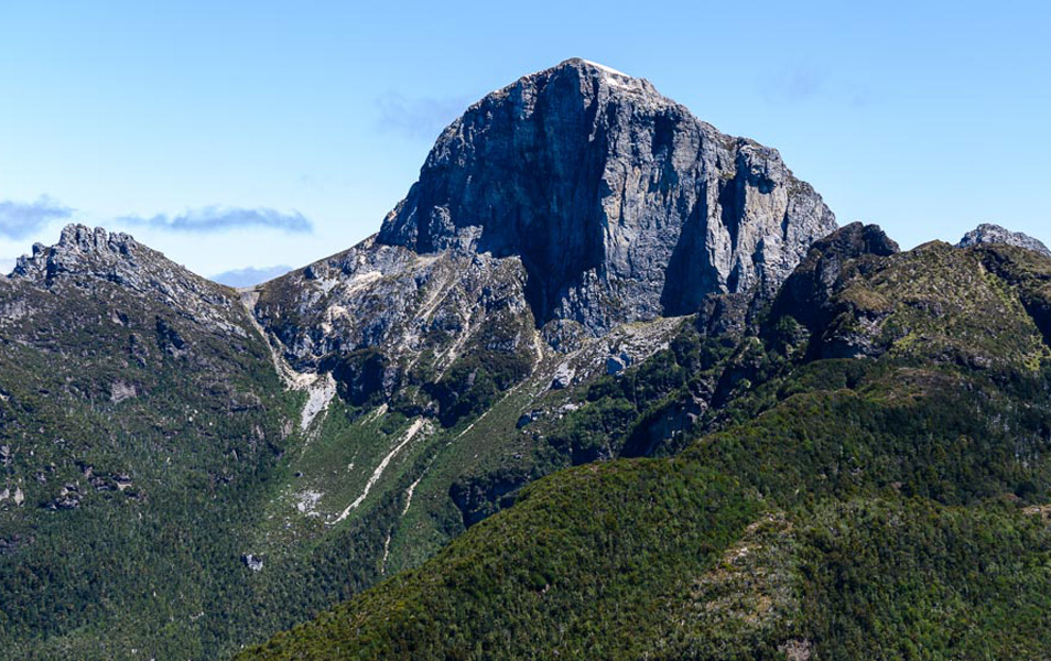 The distinctive Frenchmans Cap, Tasmanian Wilderness World Heritage Area. Photo: Grant Dixon