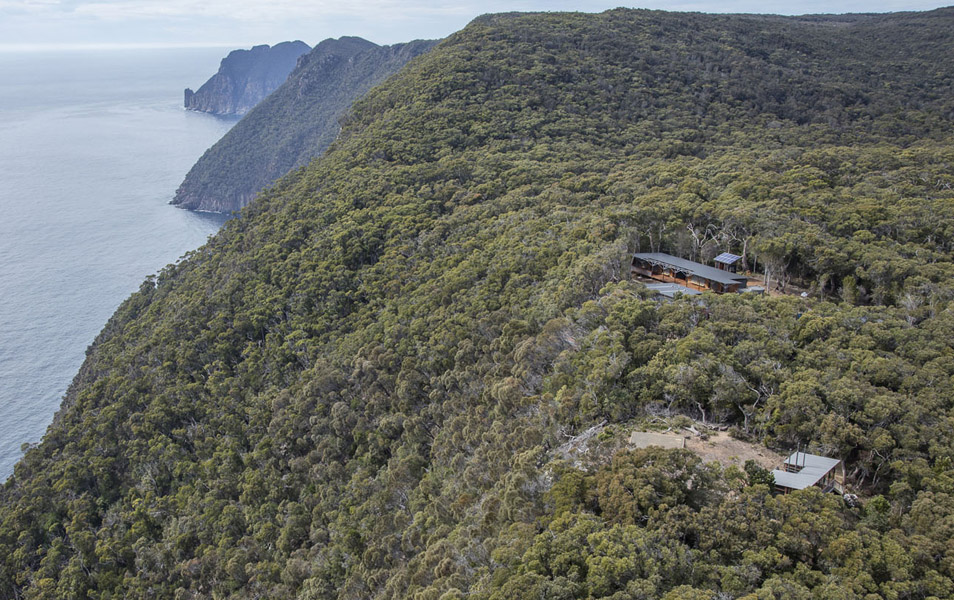Construction of Munro Hut, and the associated Three Capes Track, has had a major effect on the wild character of this previously pristine area. Photo: Rob Blakers