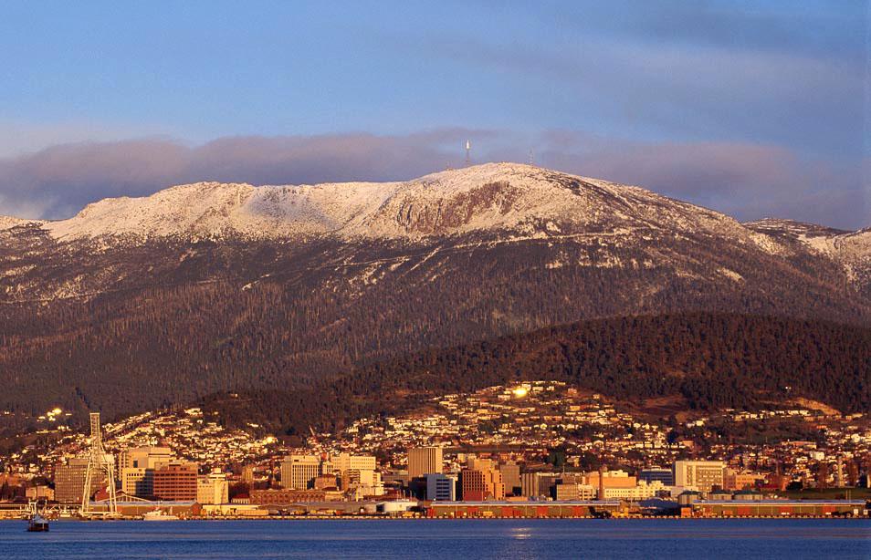 Mt Wellington and Hobart city. Photo: Grant Dixon