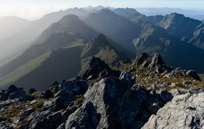 Western Arthur Range in the Southwest National Park. Photo: Geoff Dixon
