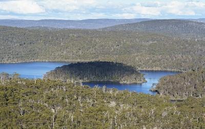 Halls Island, Lake Malbena, Tasmanian Wilderness World Heritage Area. Photo: Grant Dixon